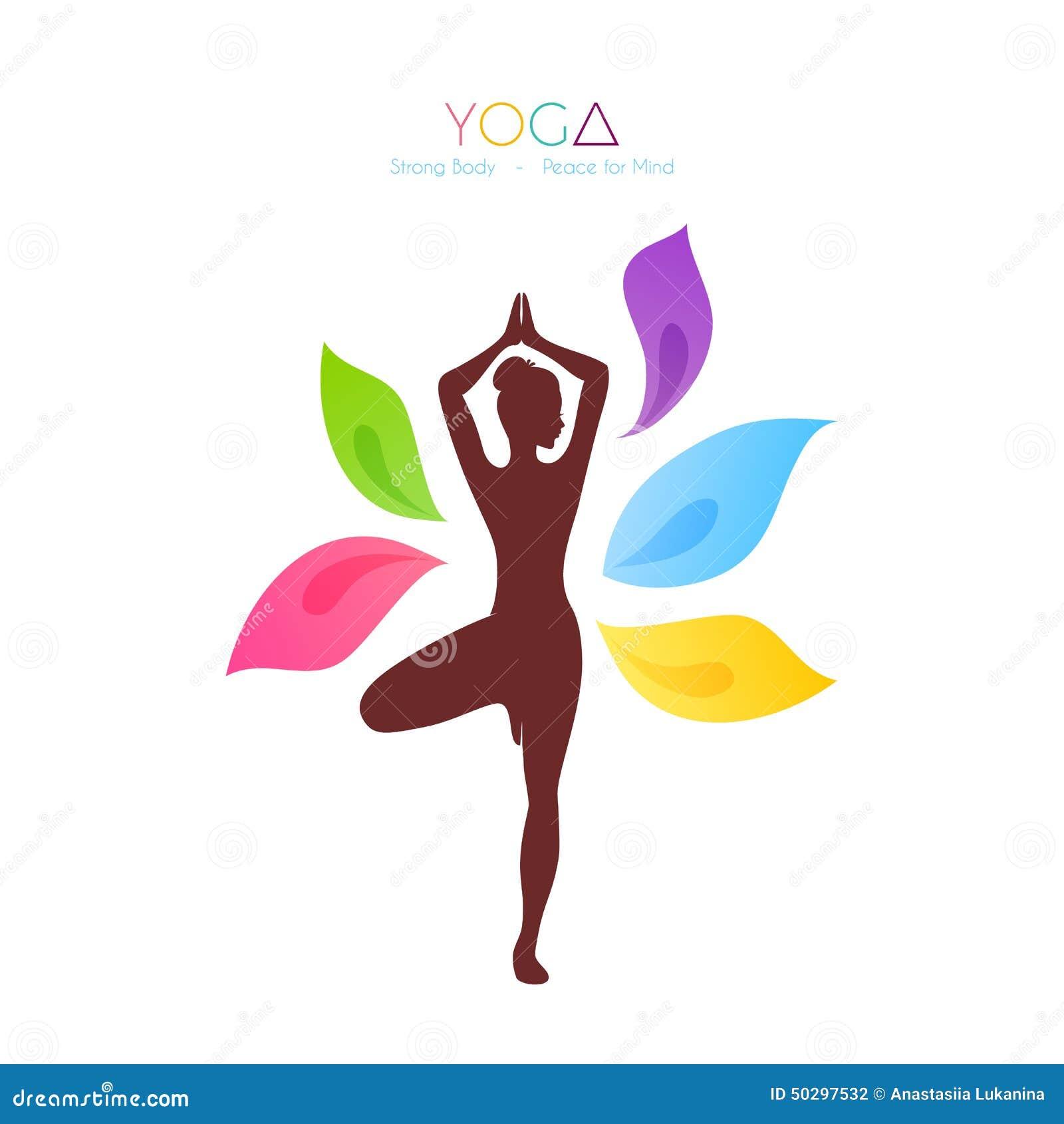 Beautiful Woman Doing Yoga Stock Vector Image 50297532