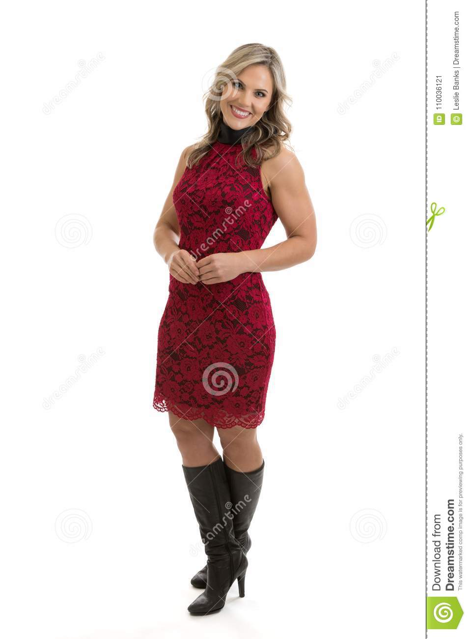 beautiful woman dressed up portrait stock image