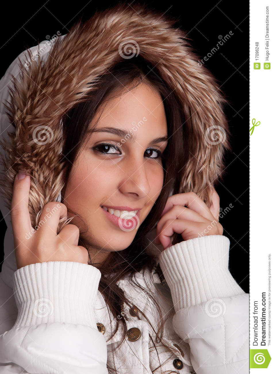 Beautiful woman dressed for winter