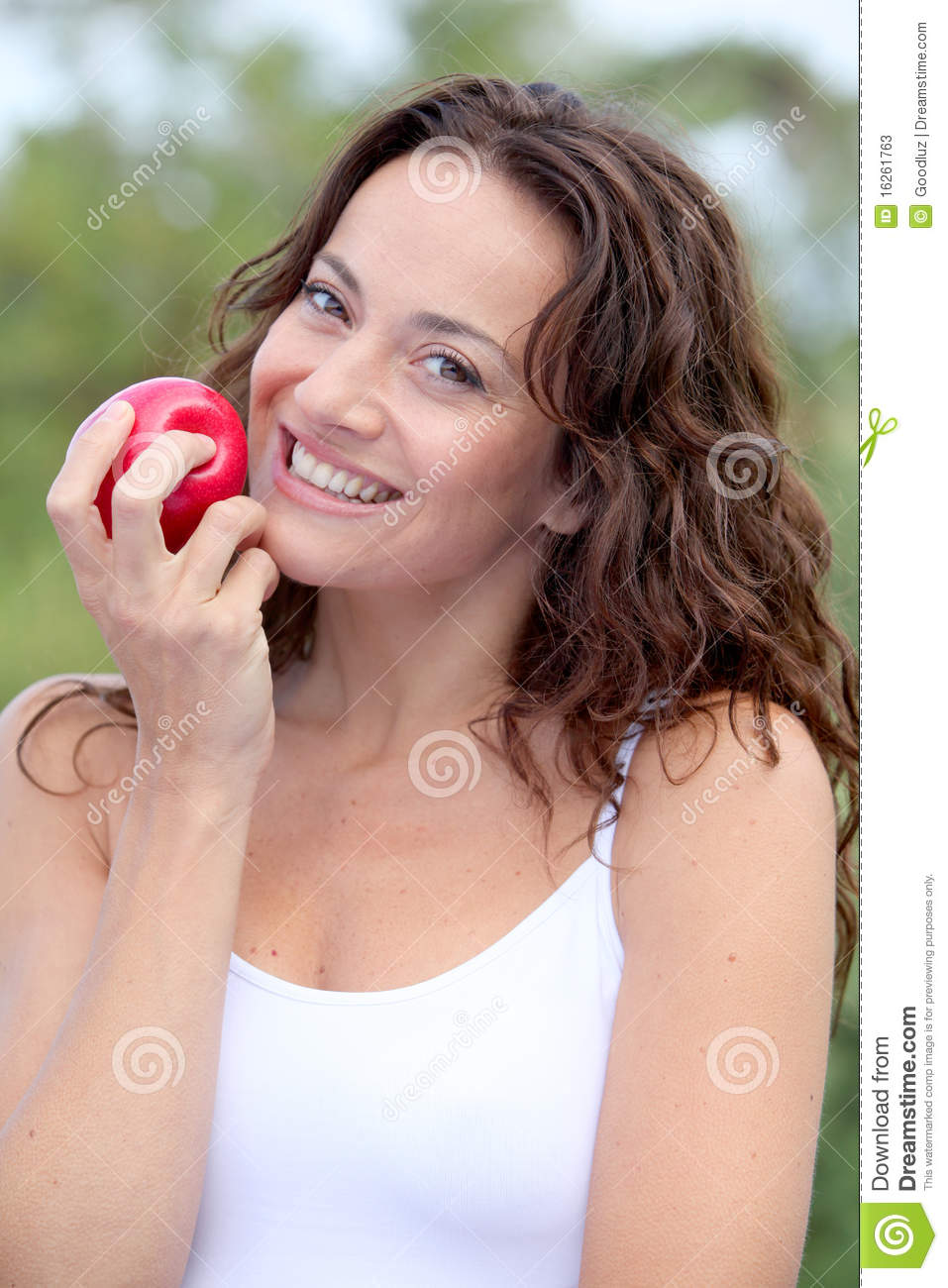 Beautiful Eat In Kitchens: Beautiful Woman Eating Fruit Stock Photos
