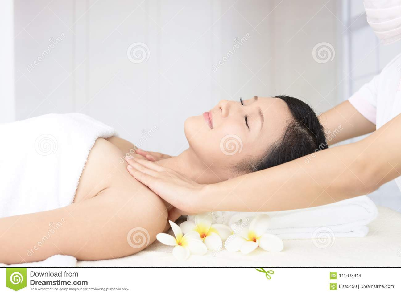 Woman Getting A Body Massage Stock Image - Image of cute ...
