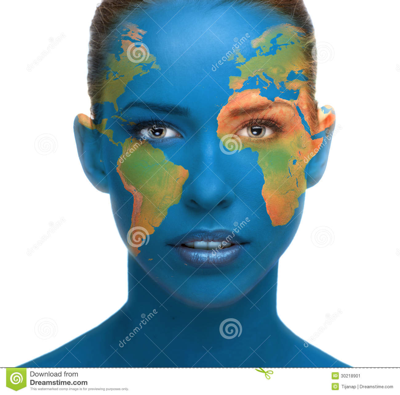 Face Painting On Save Earth