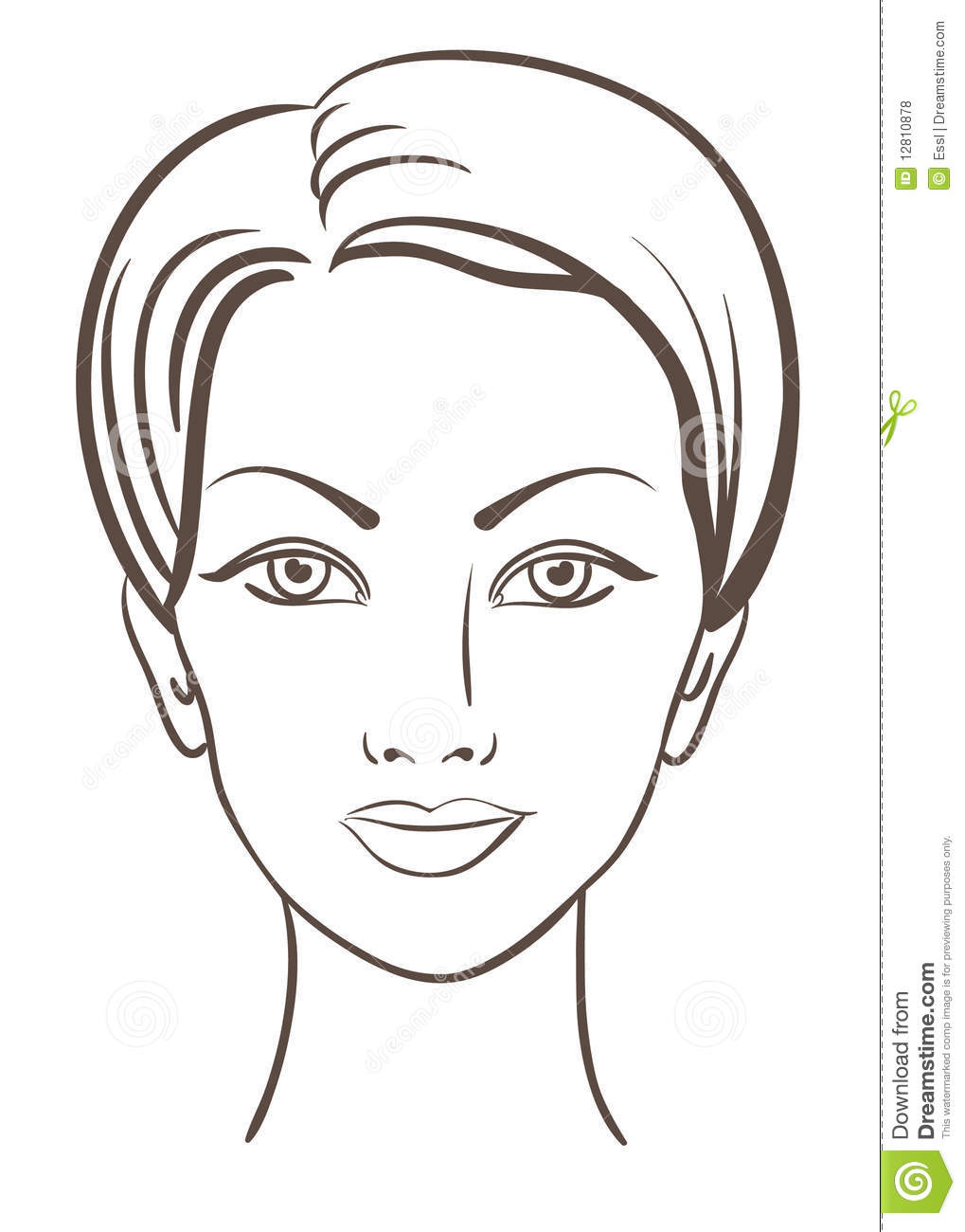 beautiful woman face vector illustration stock vector House with Heart Clip Art Apple Computer Clip Art