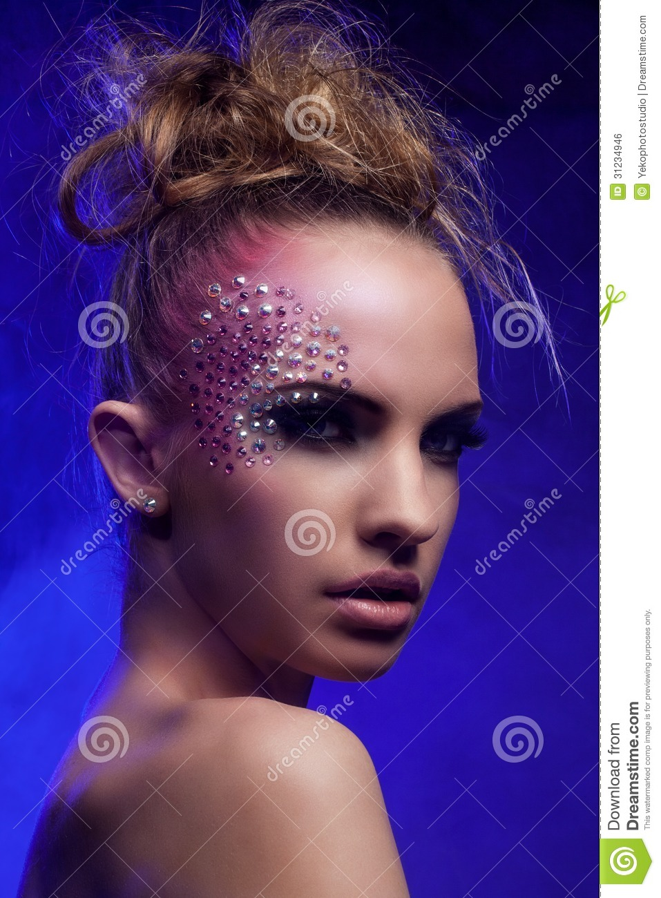 Beautiful Woman With Fantasy Makeup Stock Photo Image