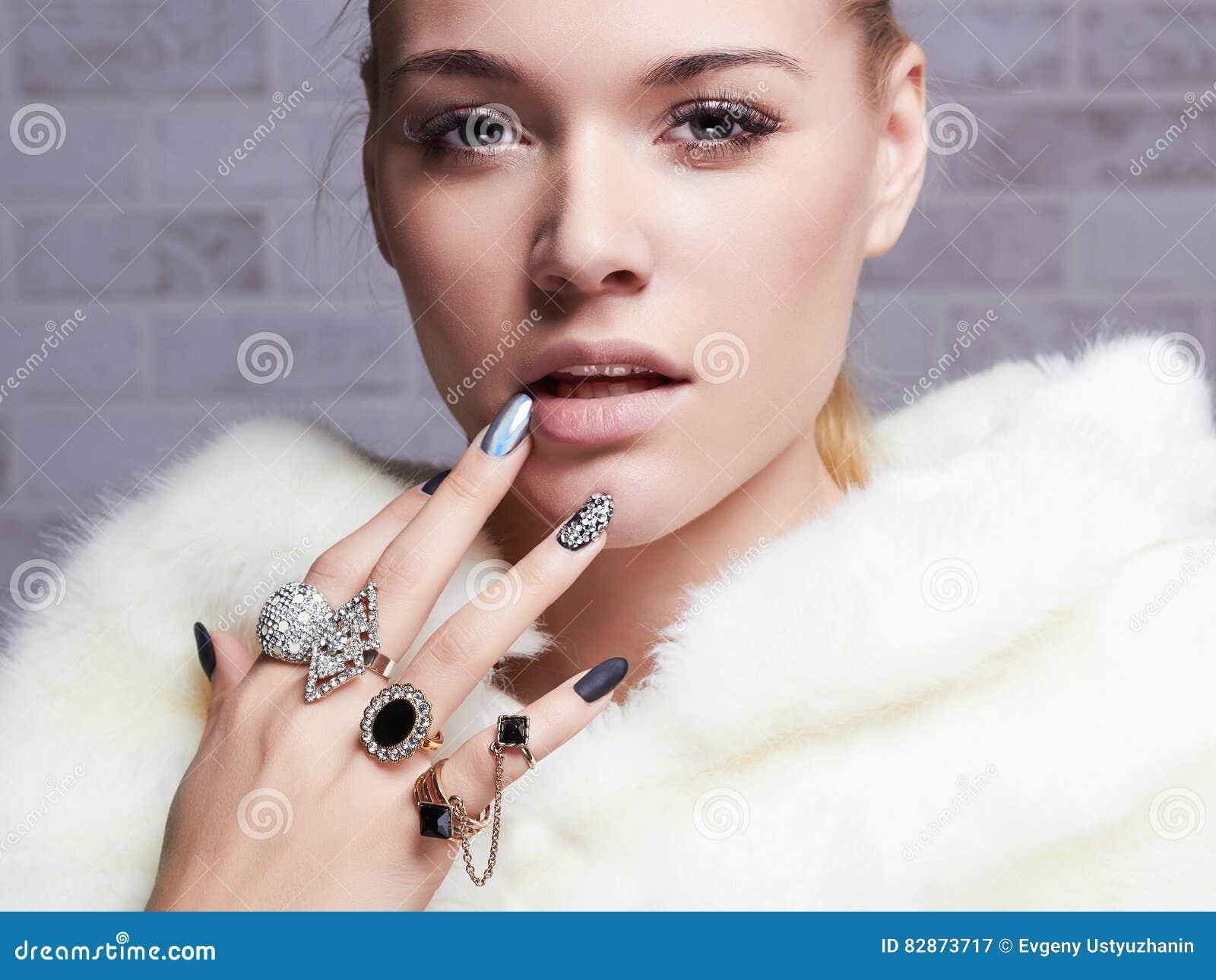 Jewelry On Fur Stock Photo 349866