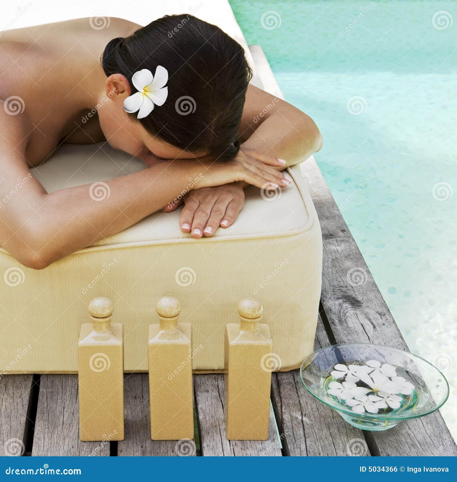 Beautiful woman getting spa treatment