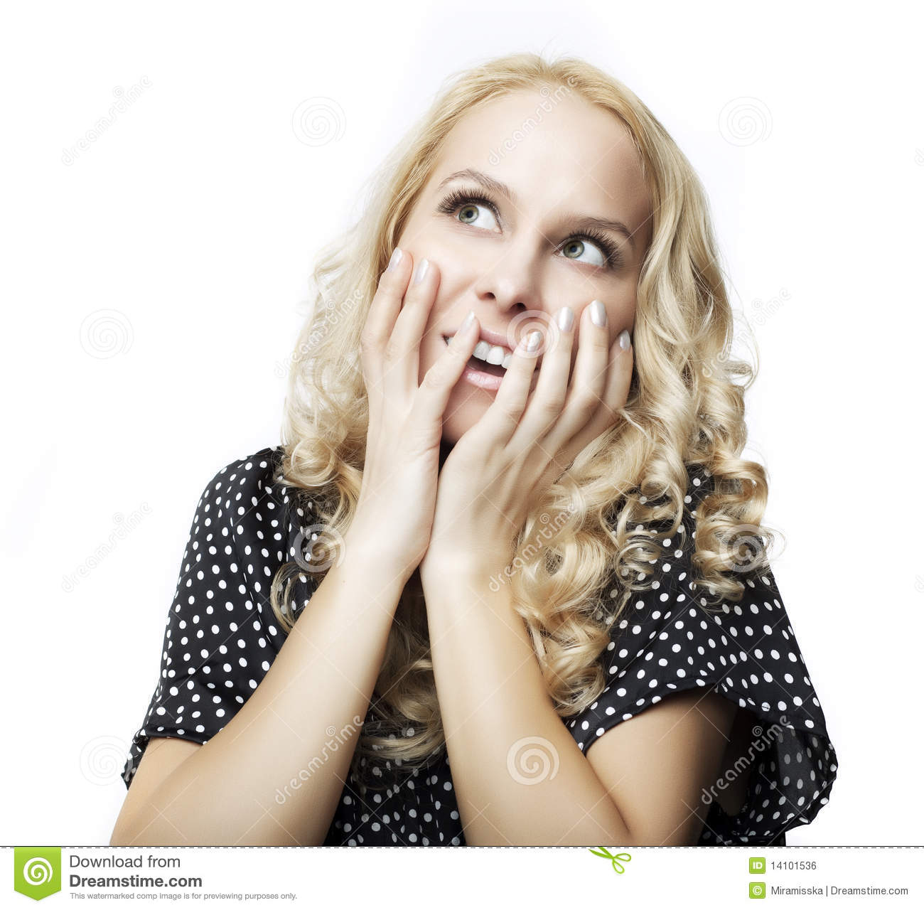 Stunning And Surprising New Looks: Beautiful Woman Giving Surprised Look Royalty Free Stock