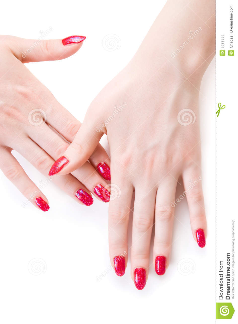 Long beautiful red fingernails 10