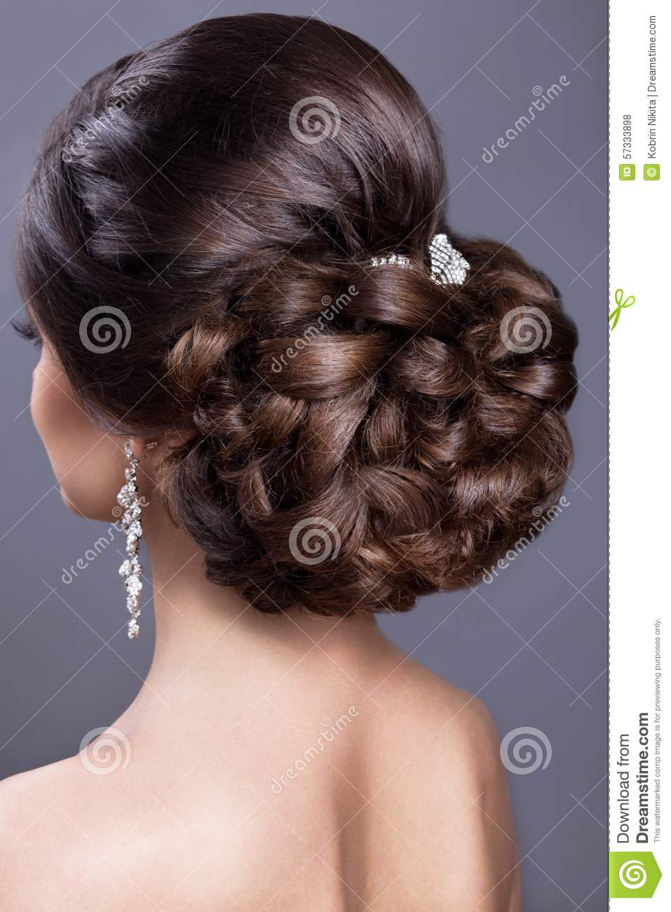 Beautiful Woman In Image The Bride Beauty Hair
