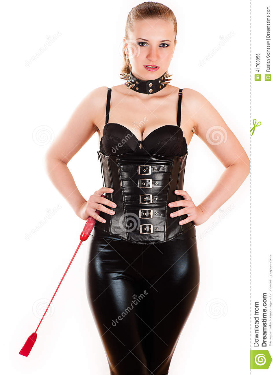 Beautiful Woman In The Image Of Mistress Stock Photo