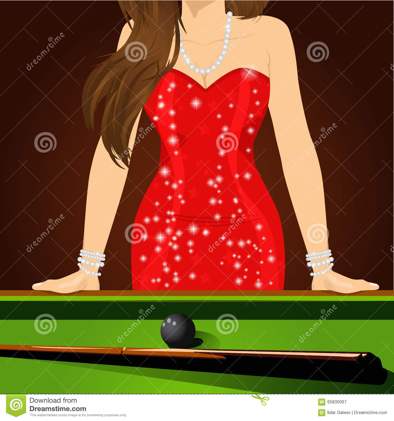 Beautiful Woman Leaning On Table Royalty Free Stock Image