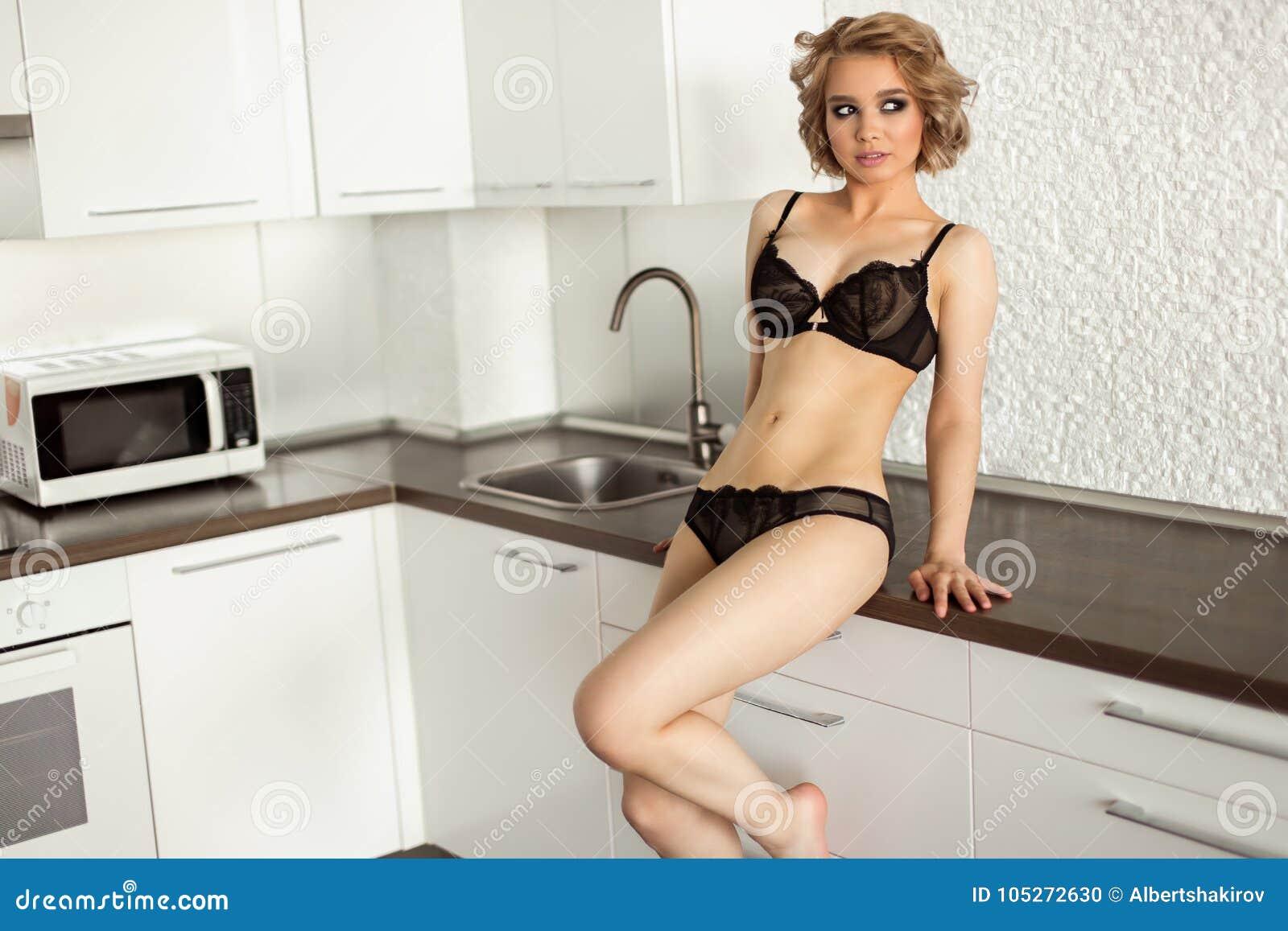 Lingerie in kitchen