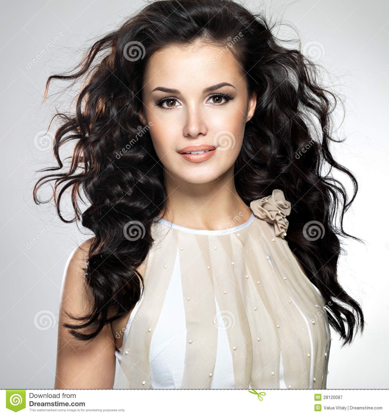 Beautiful woman long hair