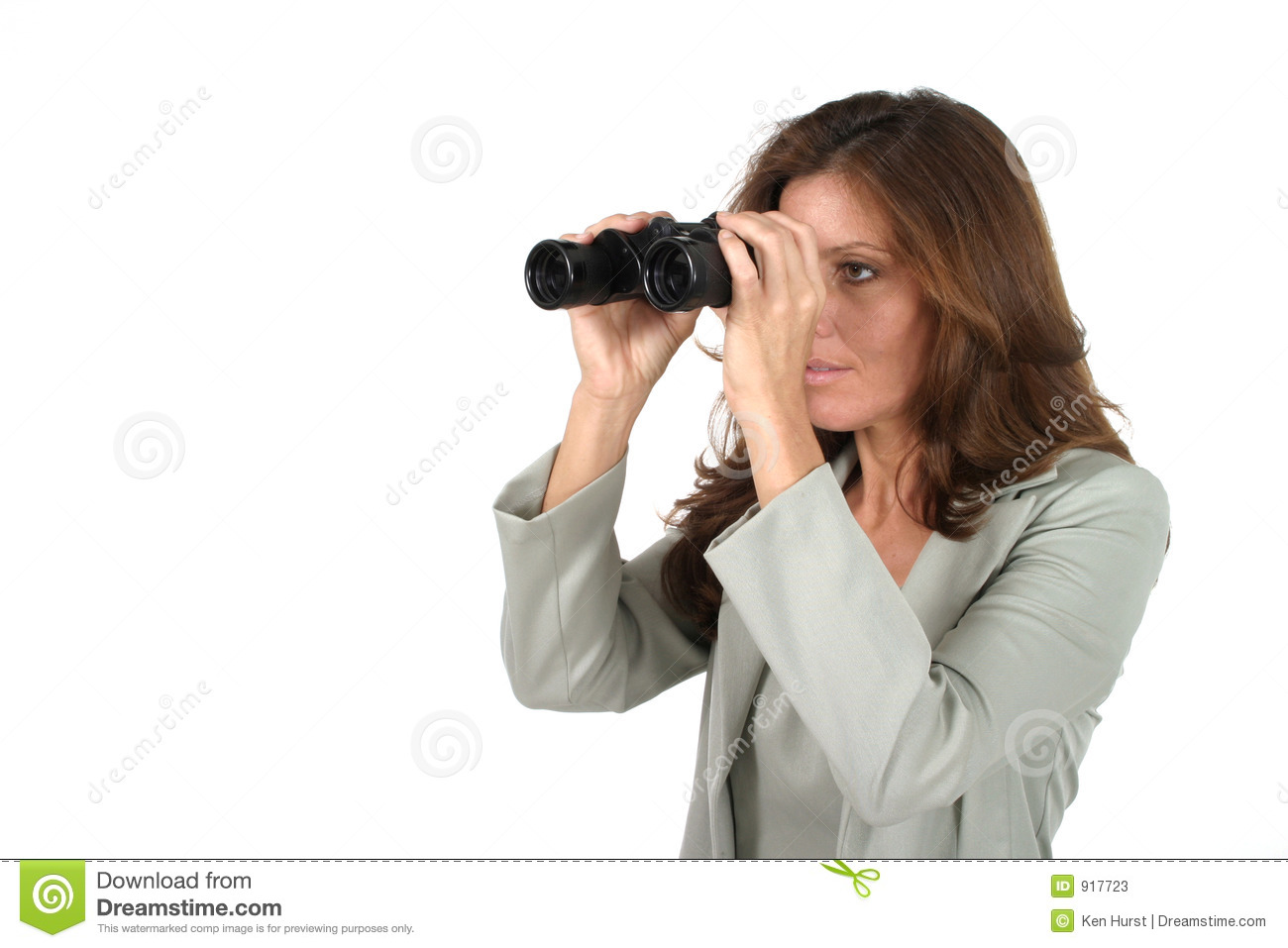 Beautiful Woman Looking Through Binoculars 2 Stock Photos ...