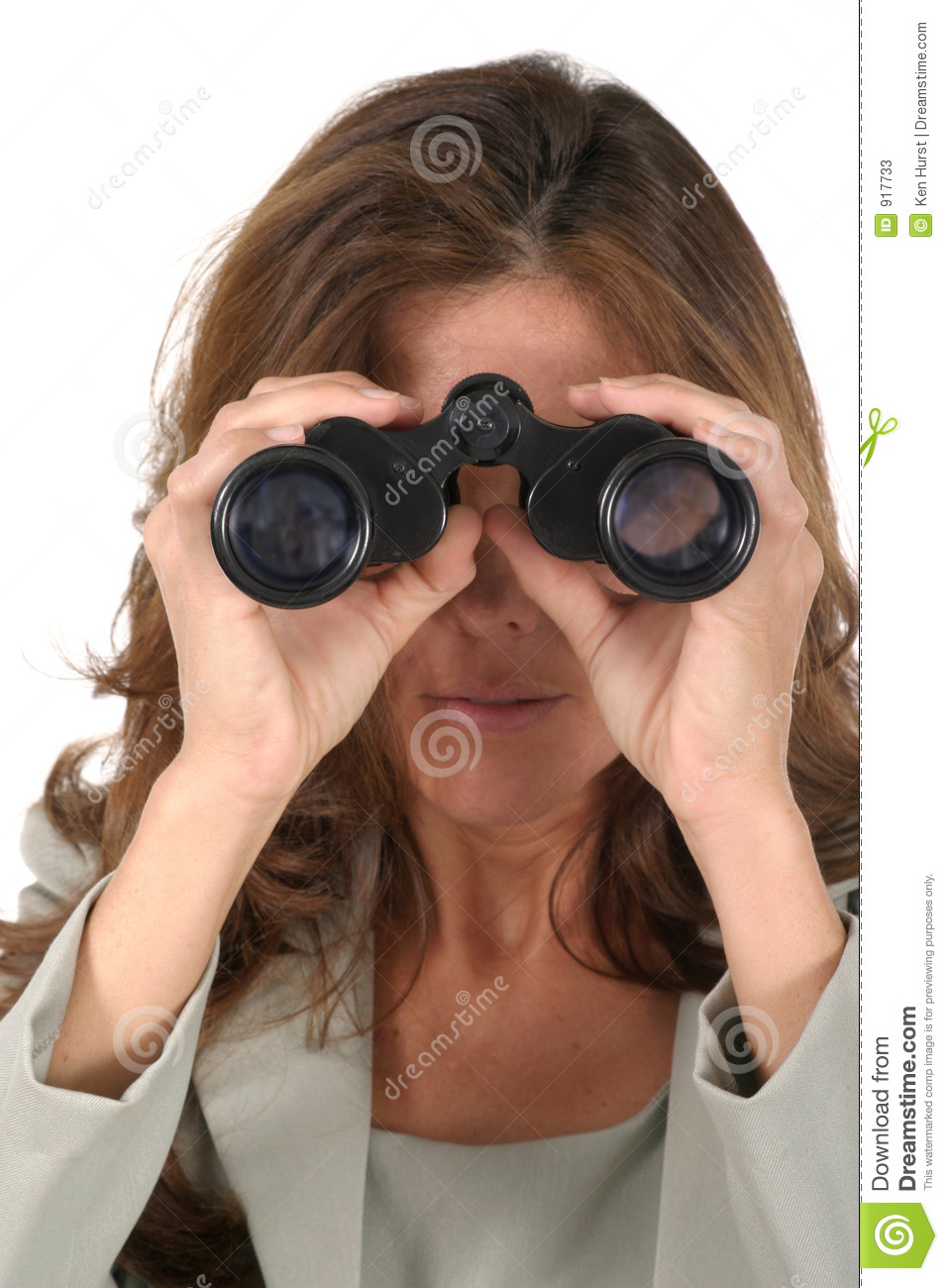 Beautiful Woman Looking Through Binoculars 3 Stock Photos ...