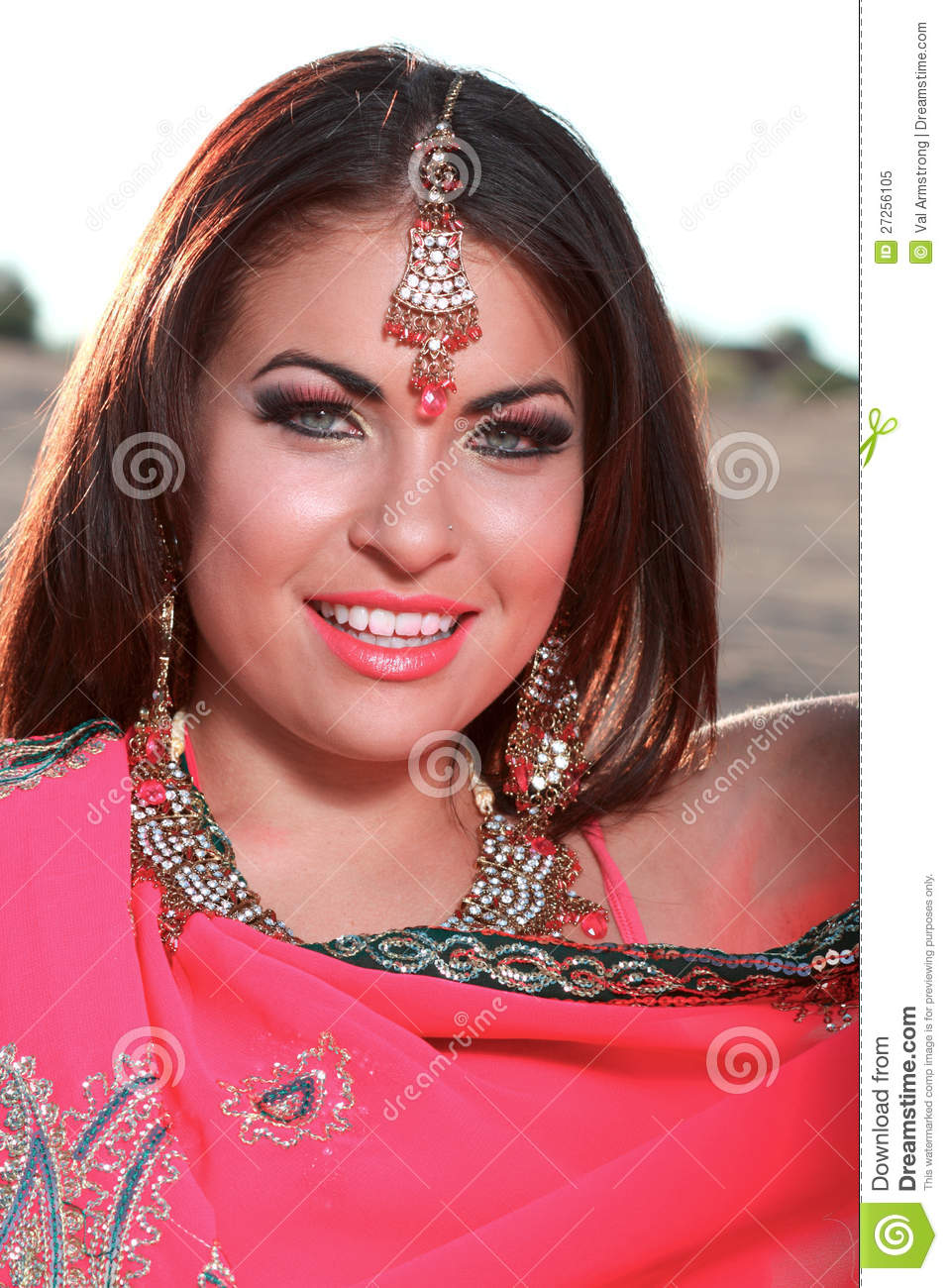 Beautiful Woman With Middle Eastern Makeup Stock Image ...