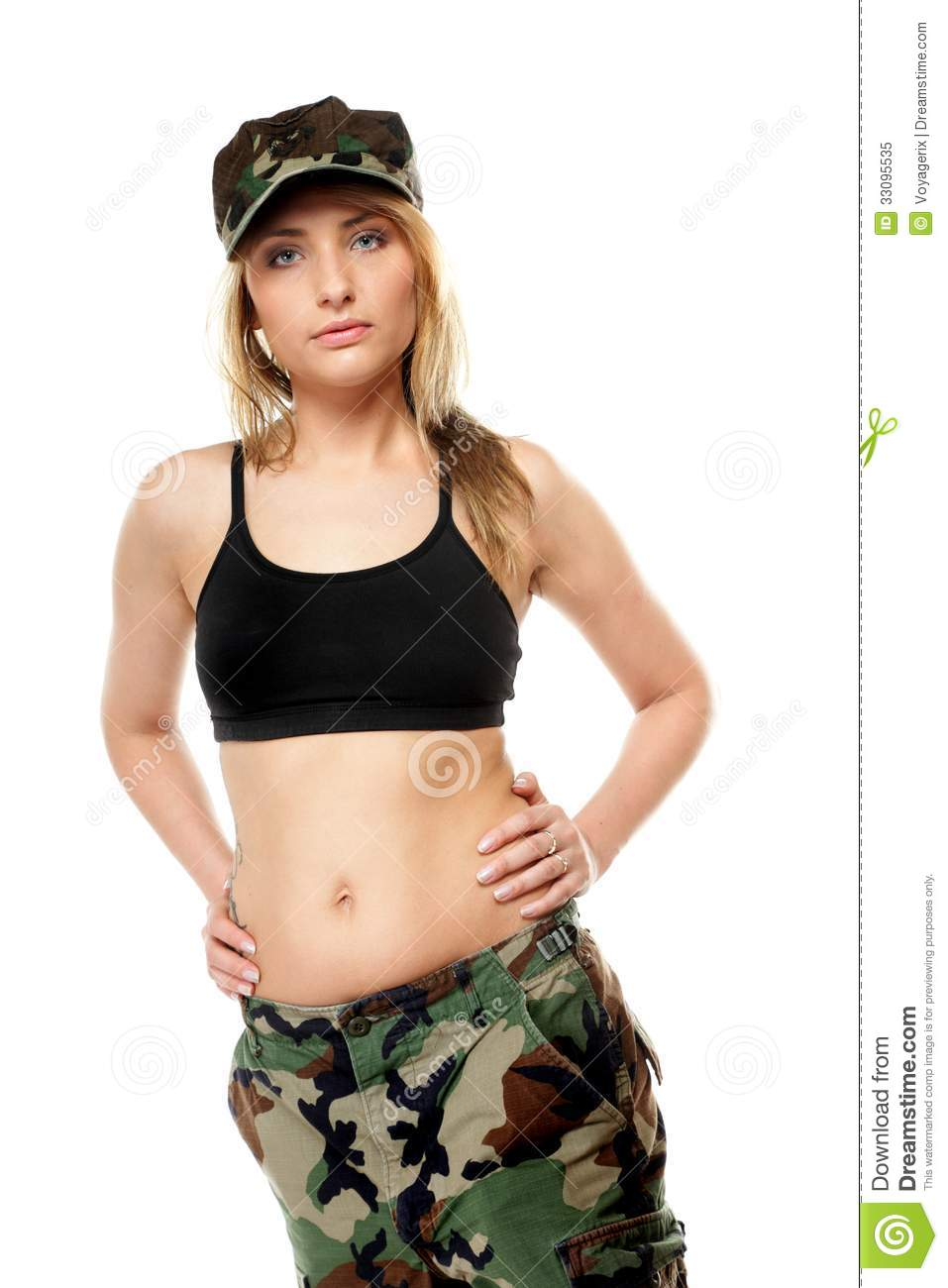 ... Woman In Military Clothes. Royalty Free Stock Photo - Image: 33095535: dreamstime.com/royalty-free-stock-photo-beautiful-woman-military...