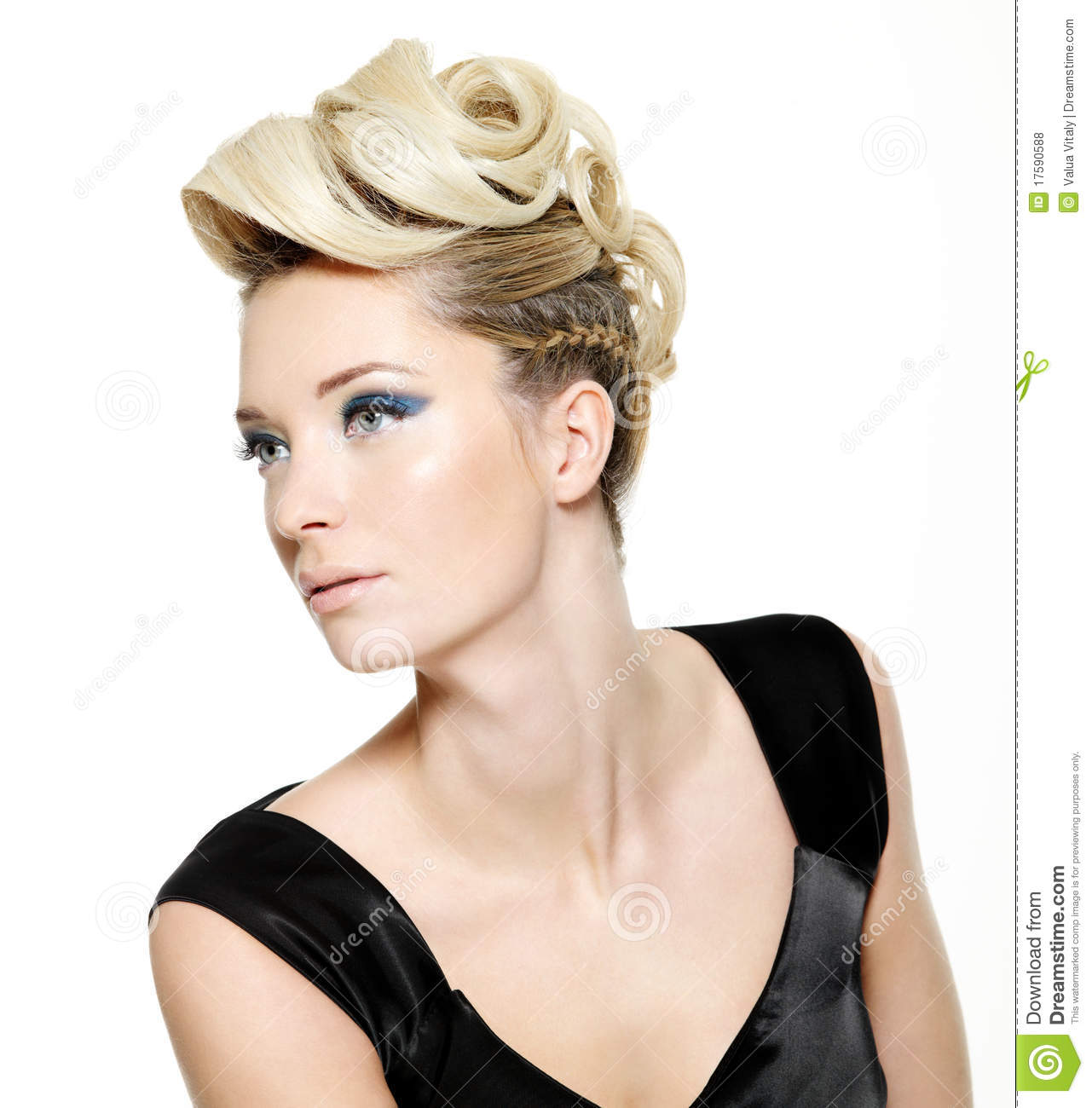Beautiful Woman With Modern Hairstyle Stock Image - Image of ...