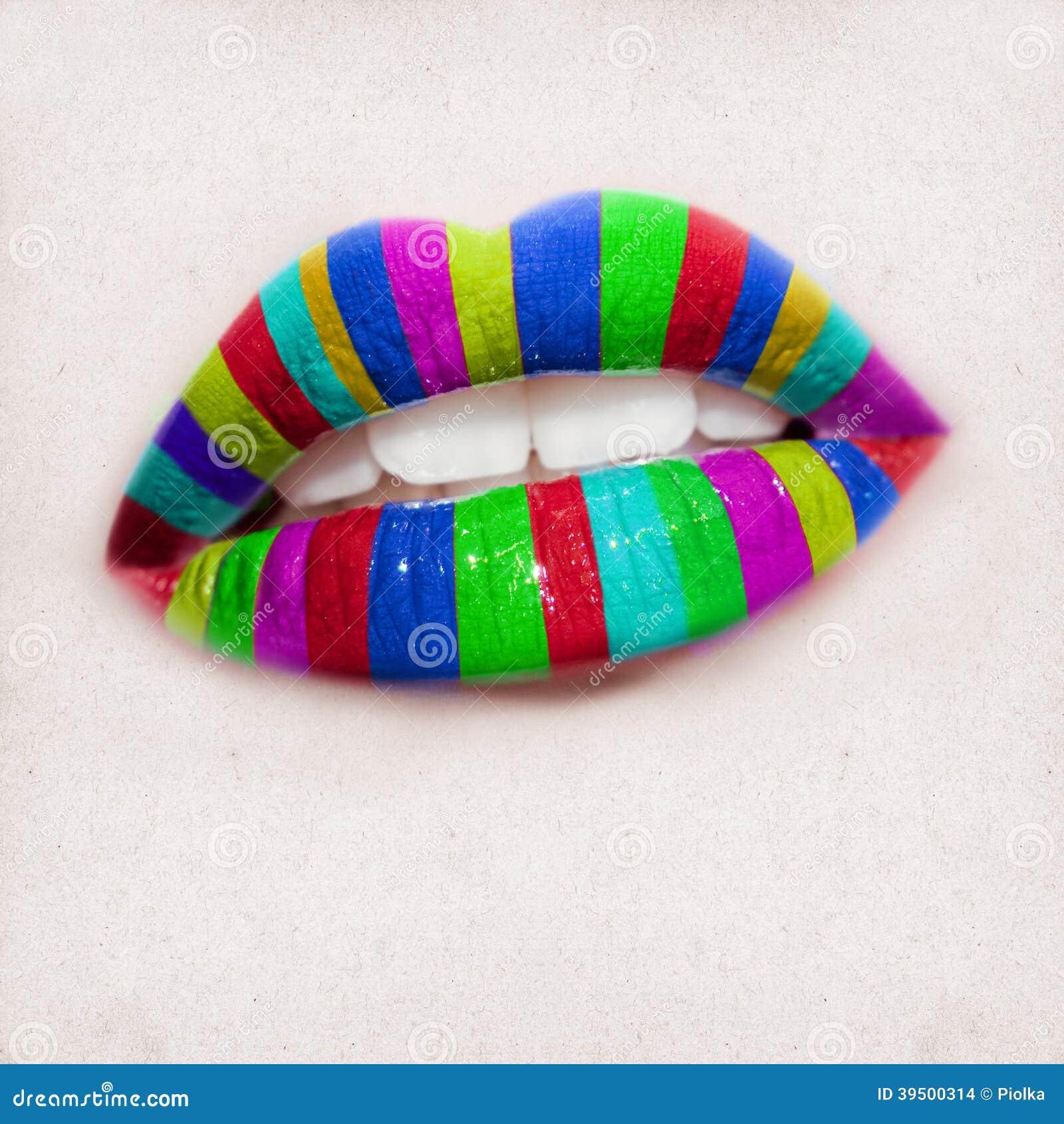 Beautiful woman mouth design