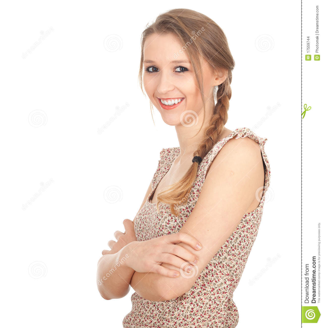 Beautiful Woman In Pigtail Stock Images - Image 17559744-1448