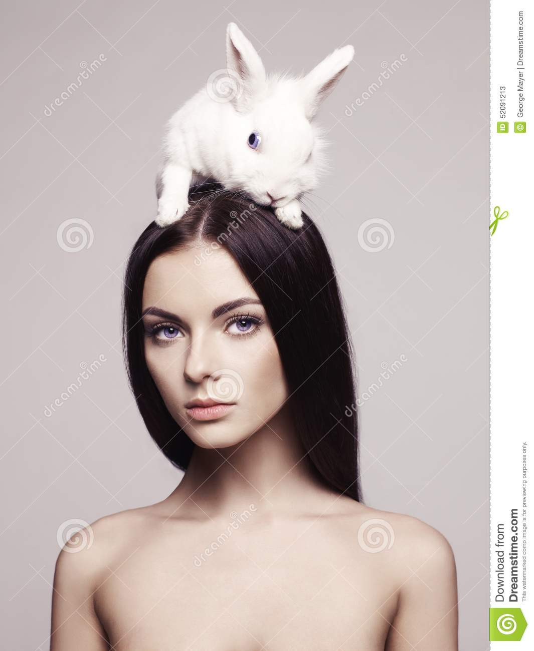 beautiful woman with rabbit stock photo image 52091213 winter coat clip art for kids winter coat clip art for kids