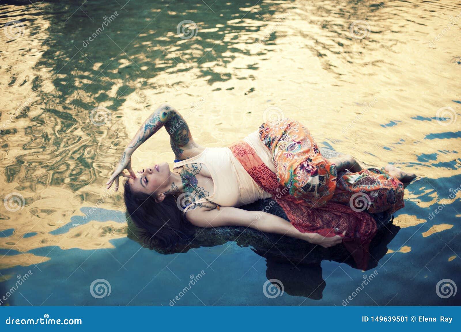 Yoga Nidra Dreamer Woman Stock Image Image Of Emotive 149639501