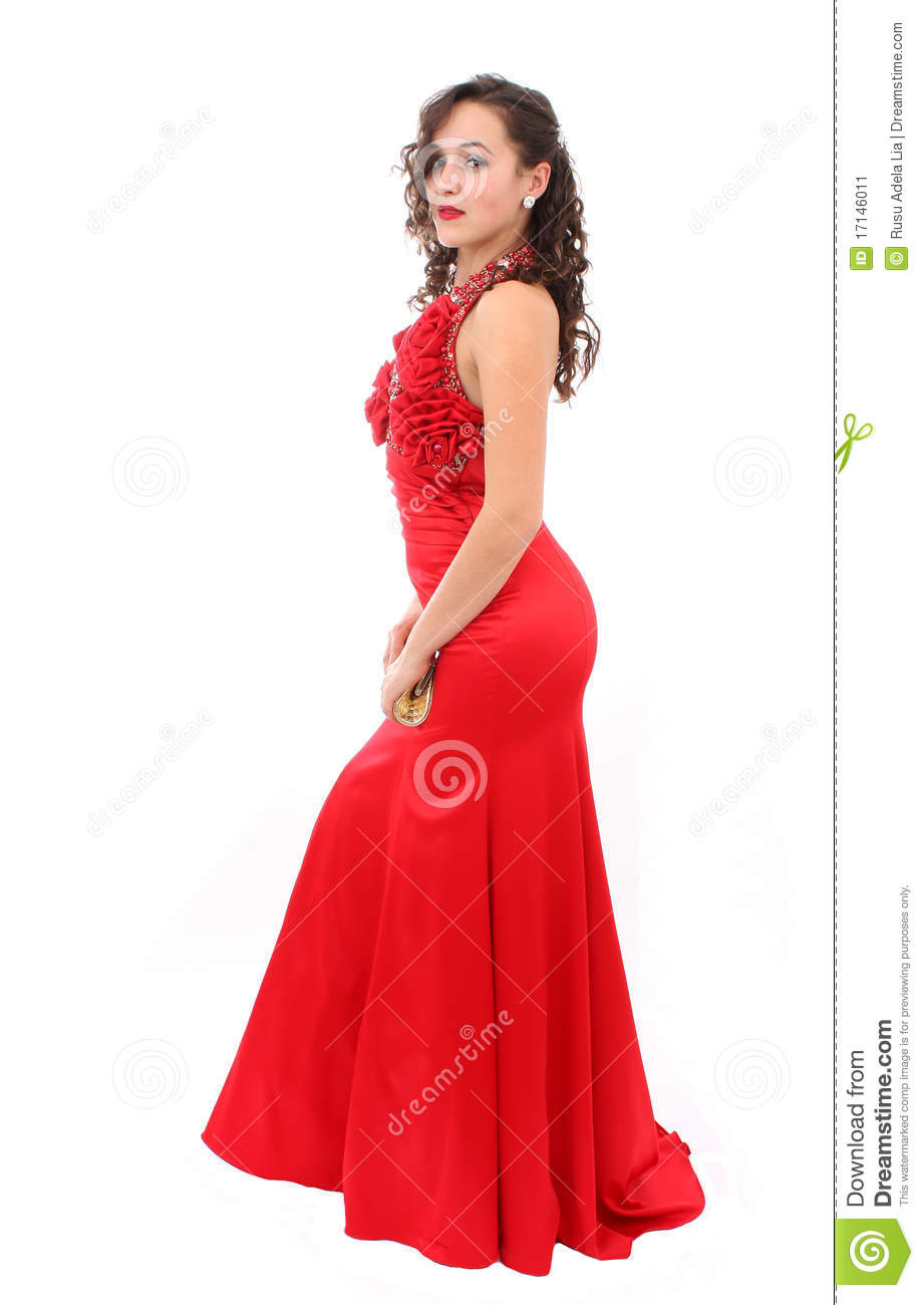 More similar stock images of beautiful woman in red dress