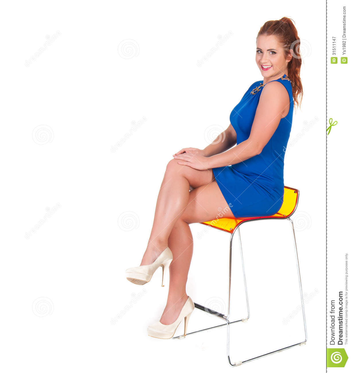 Beautiful Woman With Red Hairs Sitting On Bar Chair  : beautiful woman red hairs sitting bar chair over white background 31511147 from dreamstime.com size 1228 x 1300 jpeg 85kB