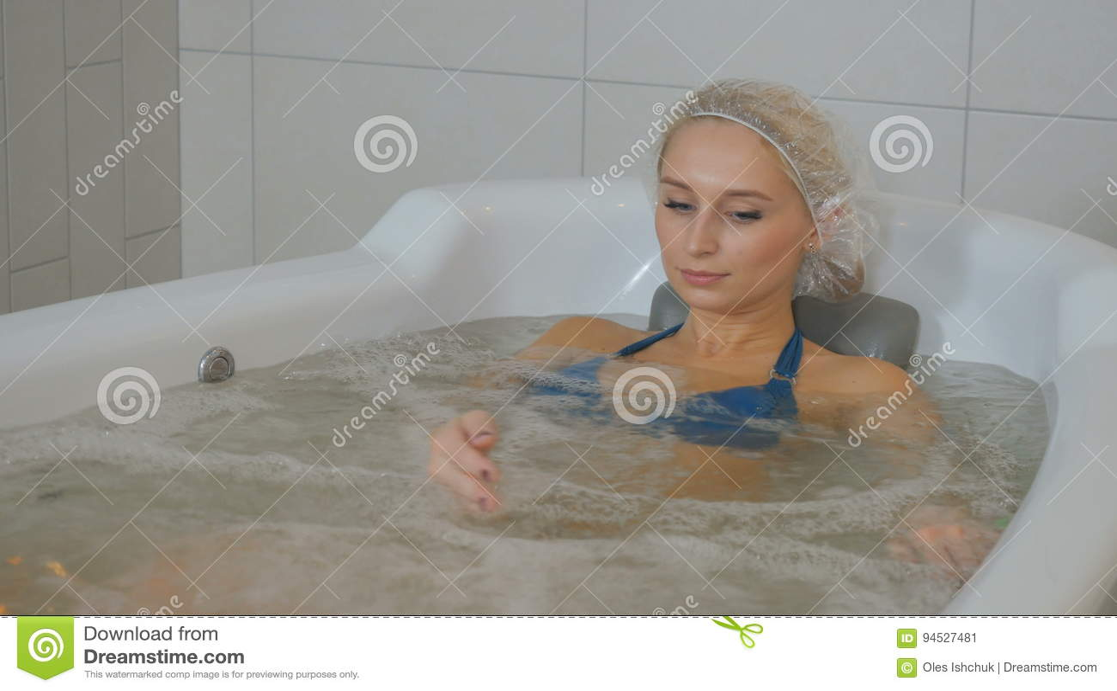 Hot blonde in bathtub