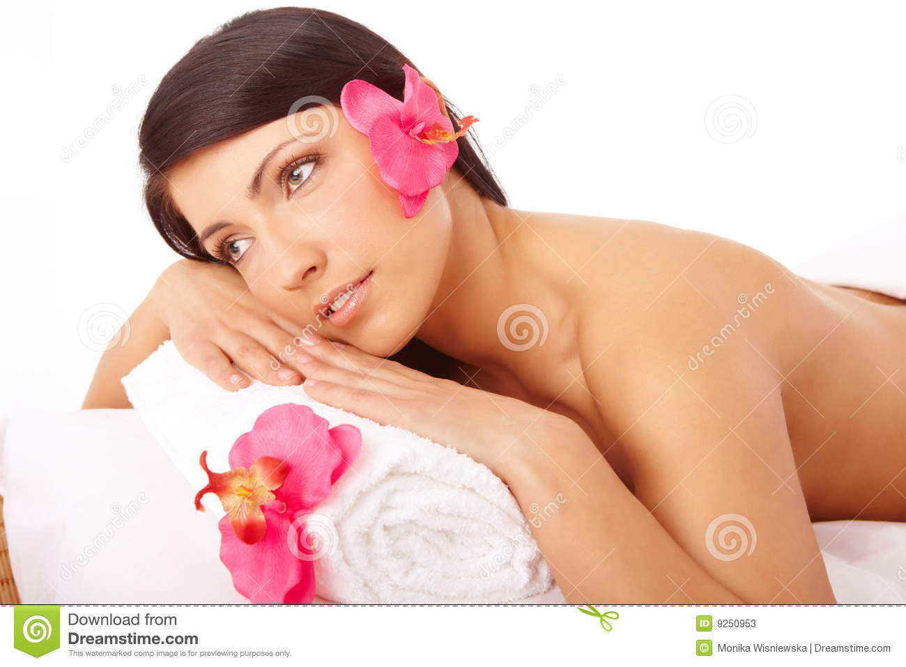 Beautiful woman relaxing spa stock image image 9250953 for A beautiful you salon