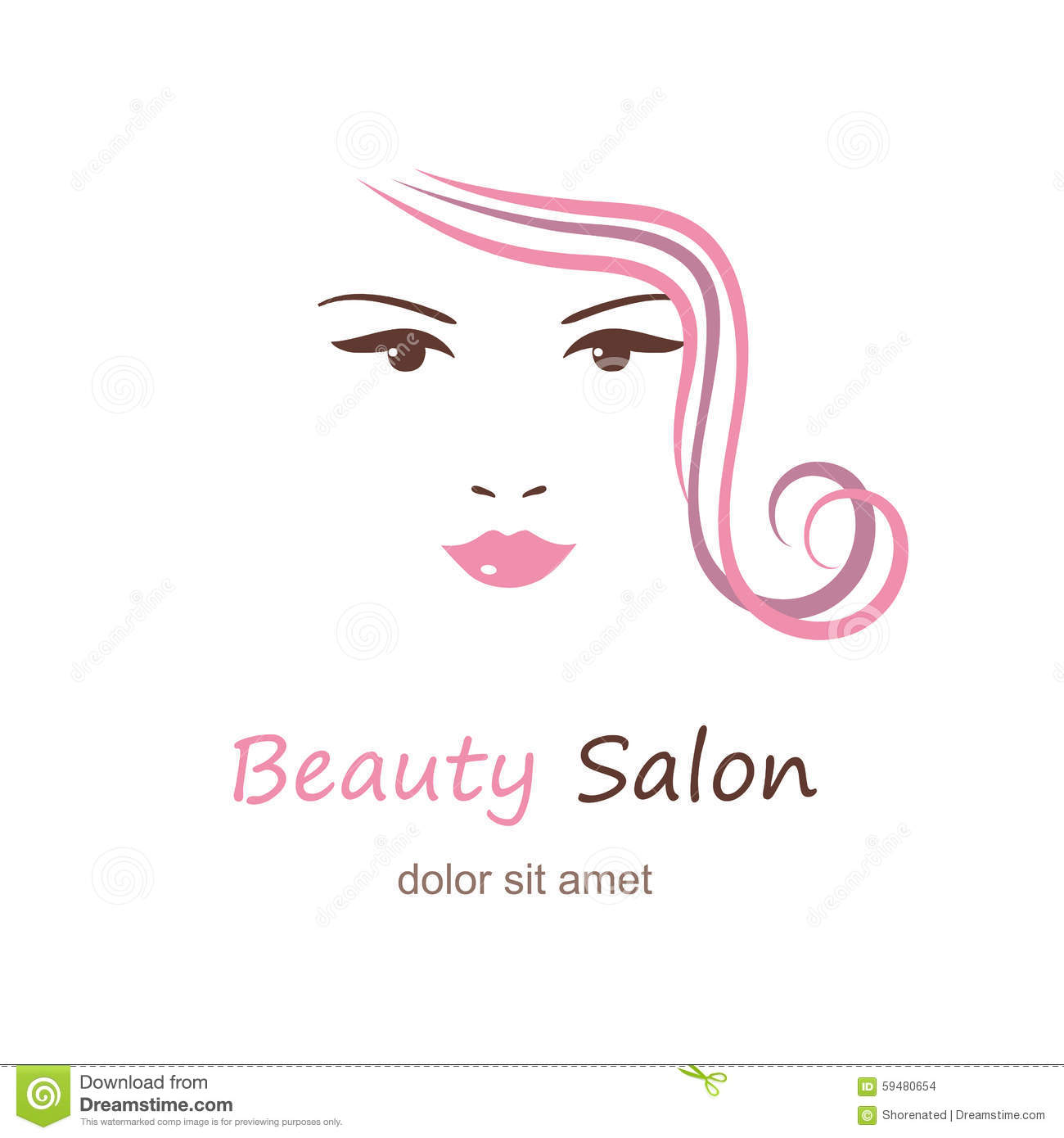 Beautiful Woman's Face Stock Vector. Illustration Of