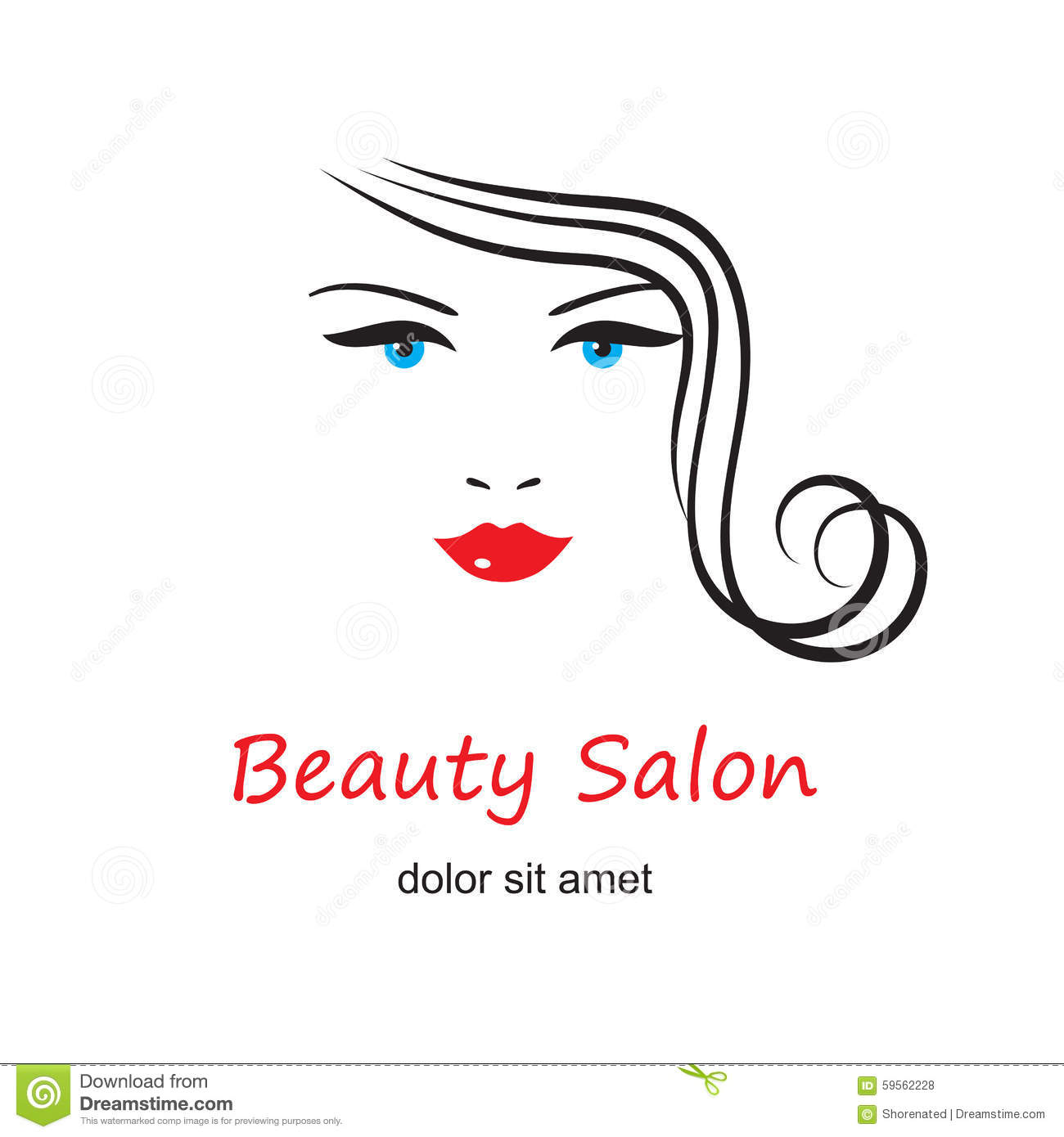 Beautiful woman's face stock vector. Image of sign, icon ...