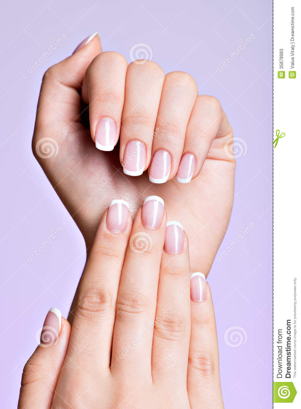 Beautiful Woman's Hands With Beautiful Nails Stock Image