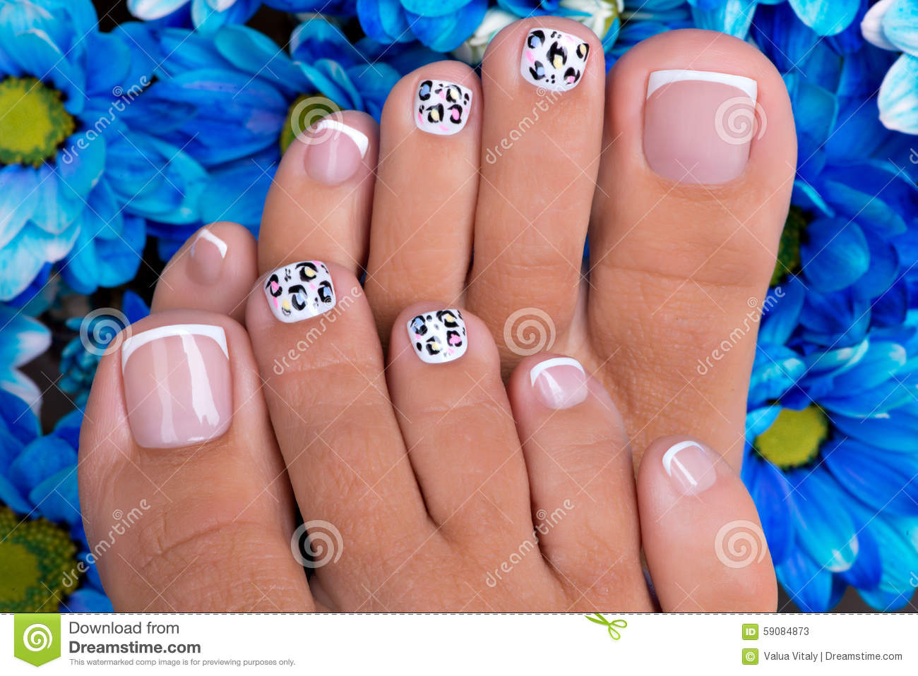 Nail art and legs stock image image of sensual nails 60334953 beautiful womans nails of legs with beautiful french manicure stock photos prinsesfo Images