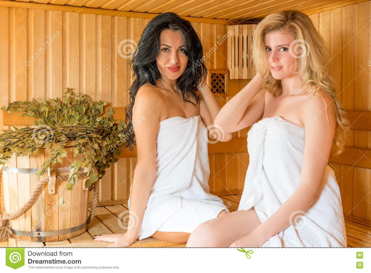 Lesbians in the sauna message