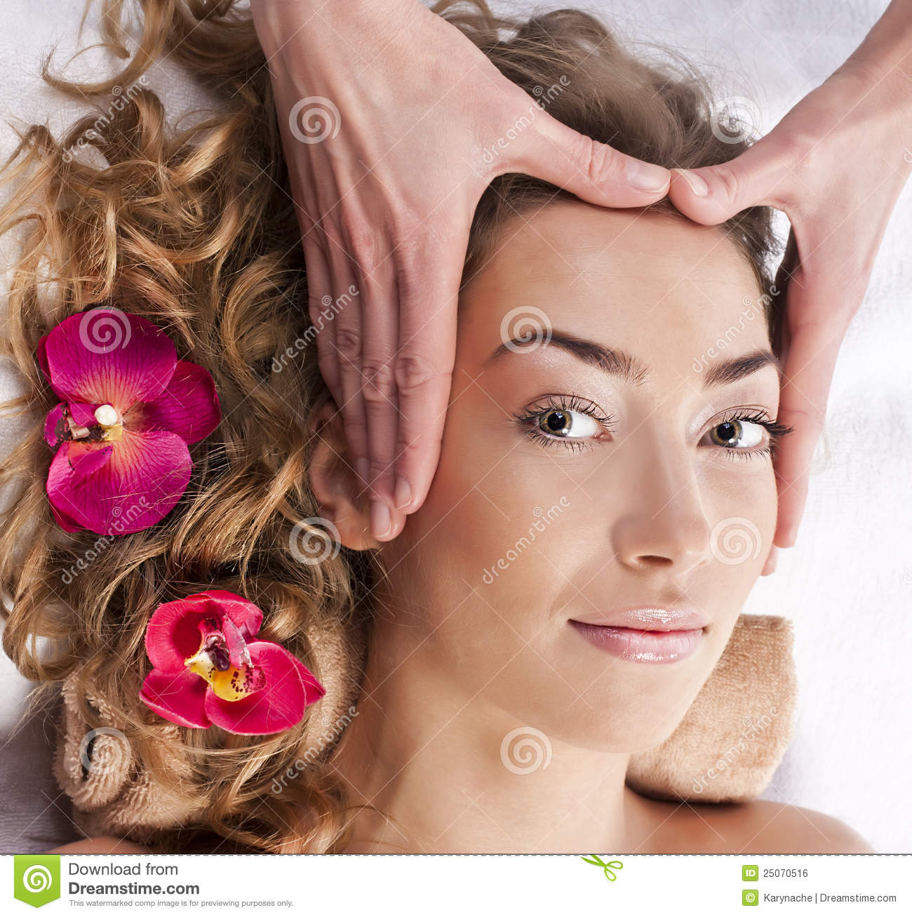 Beautiful woman in spa salon royalty free stock image for Salon younga
