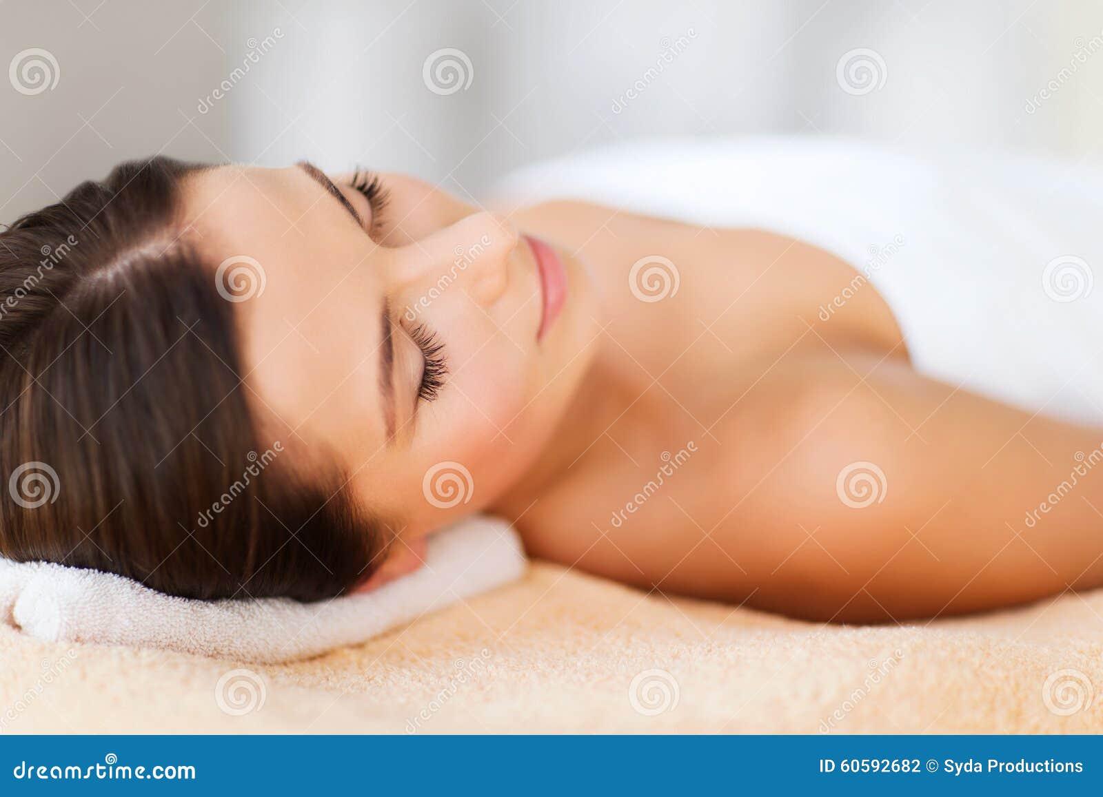 beautiful woman in spa salon stock photo image 60592682. Black Bedroom Furniture Sets. Home Design Ideas