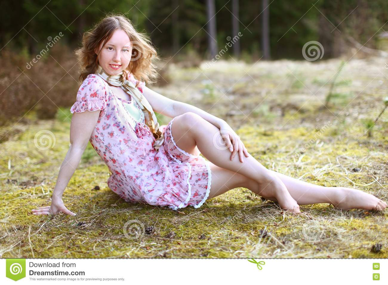Beautiful Woman In A Sunshine Royalty Free Stock Images ...