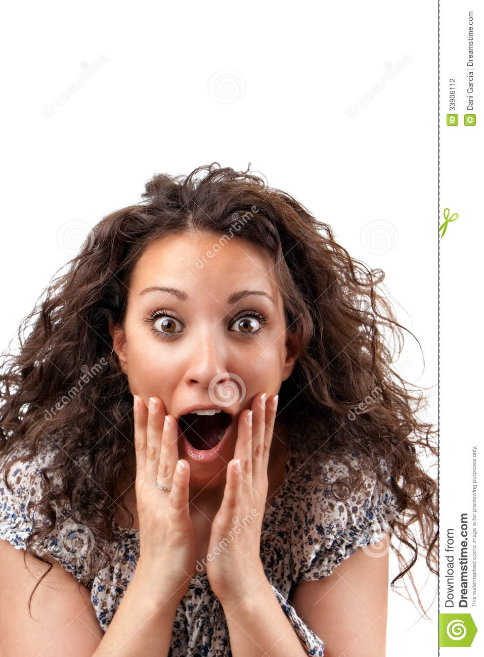 Pics Photos Shocked Young Business Woman Surprised Shocked
