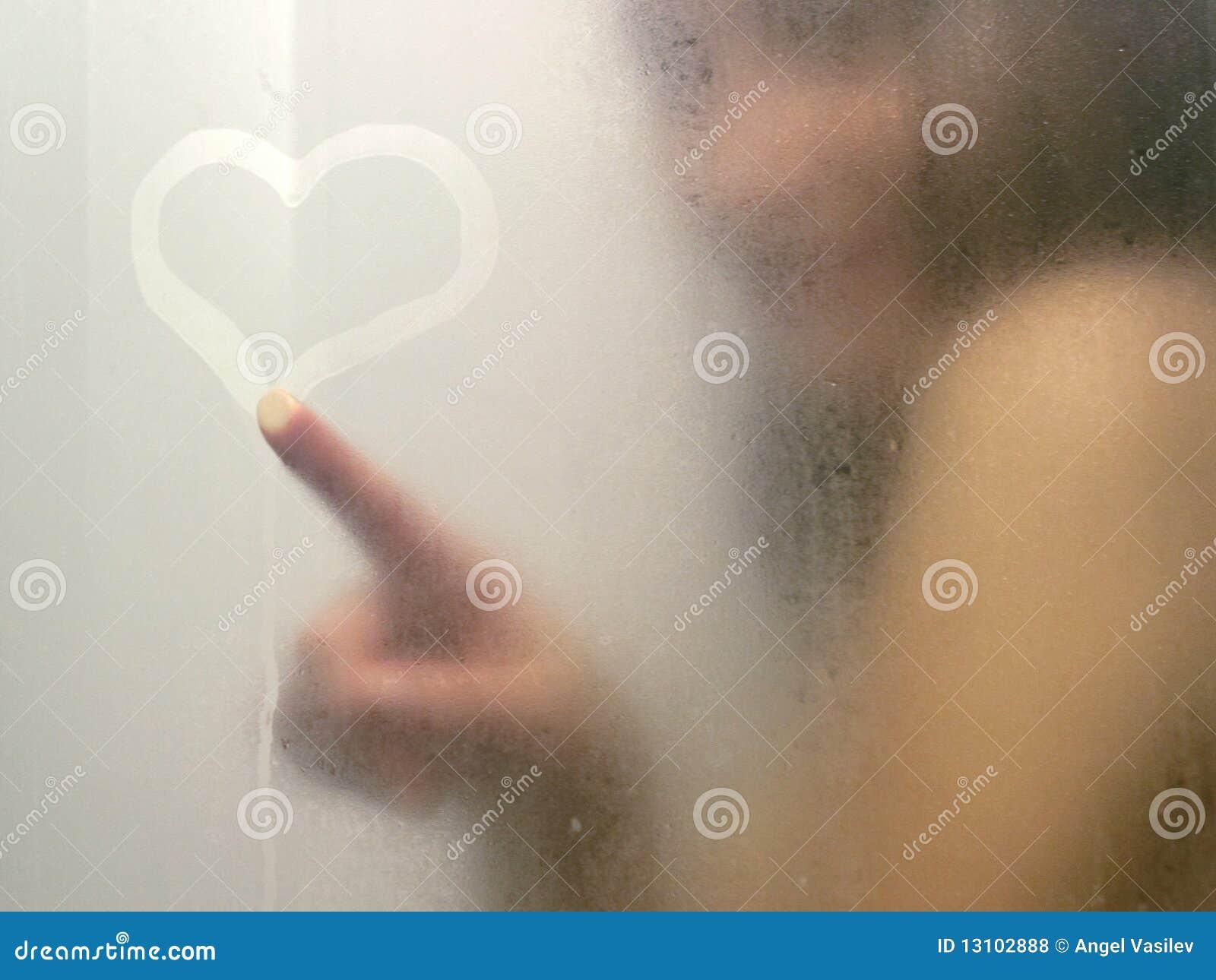 Beautiful woman taking a shower.