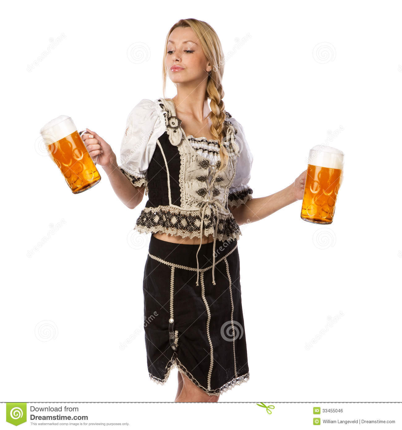 Beautiful Woman In Tiroler Outfit Stock Photo - Image of munchen, model: 33455046