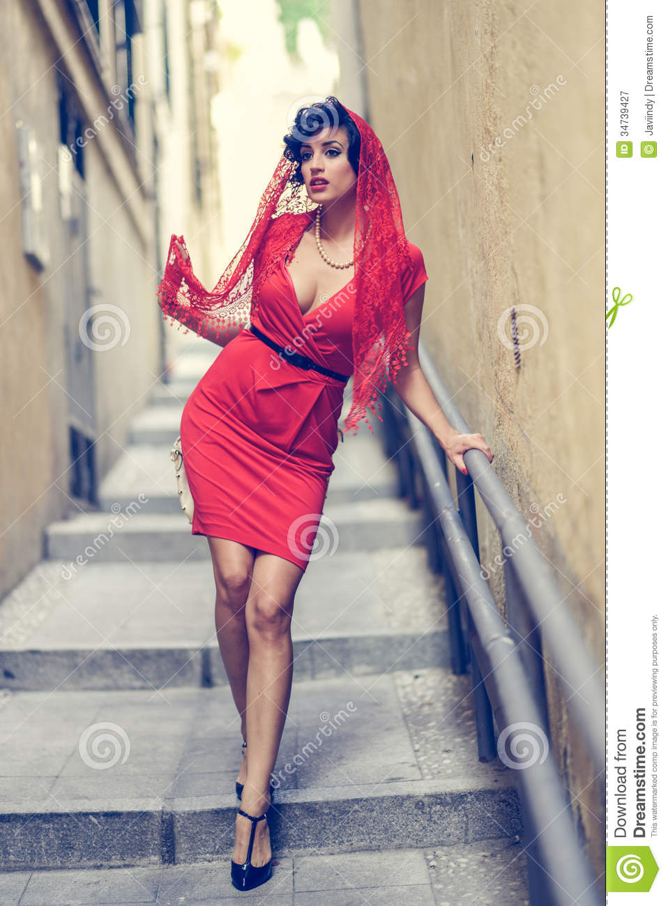 Beautiful woman in urban background vintage style royalty free stock photogr - Vintage style images ...