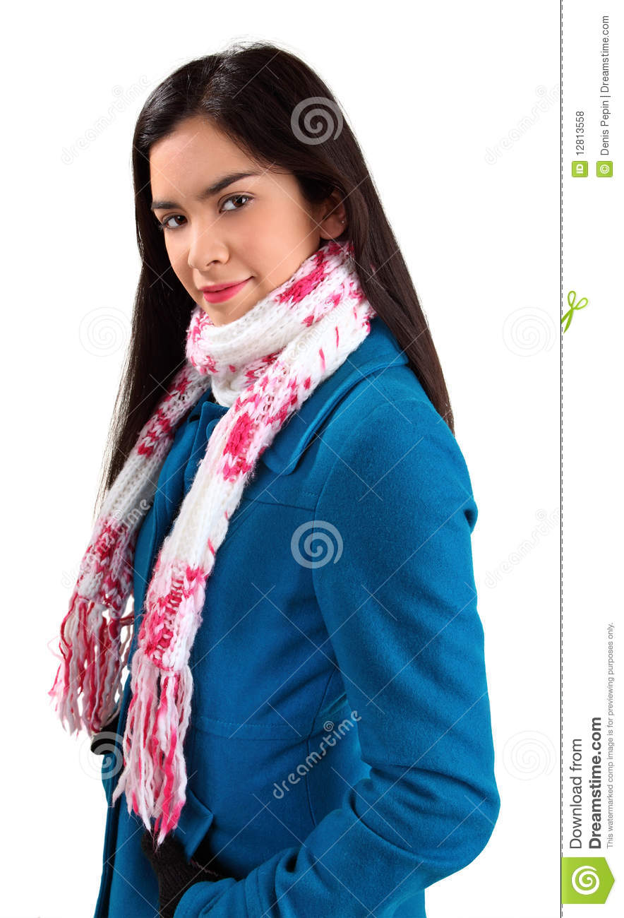how to wear a scarf with a winter coat