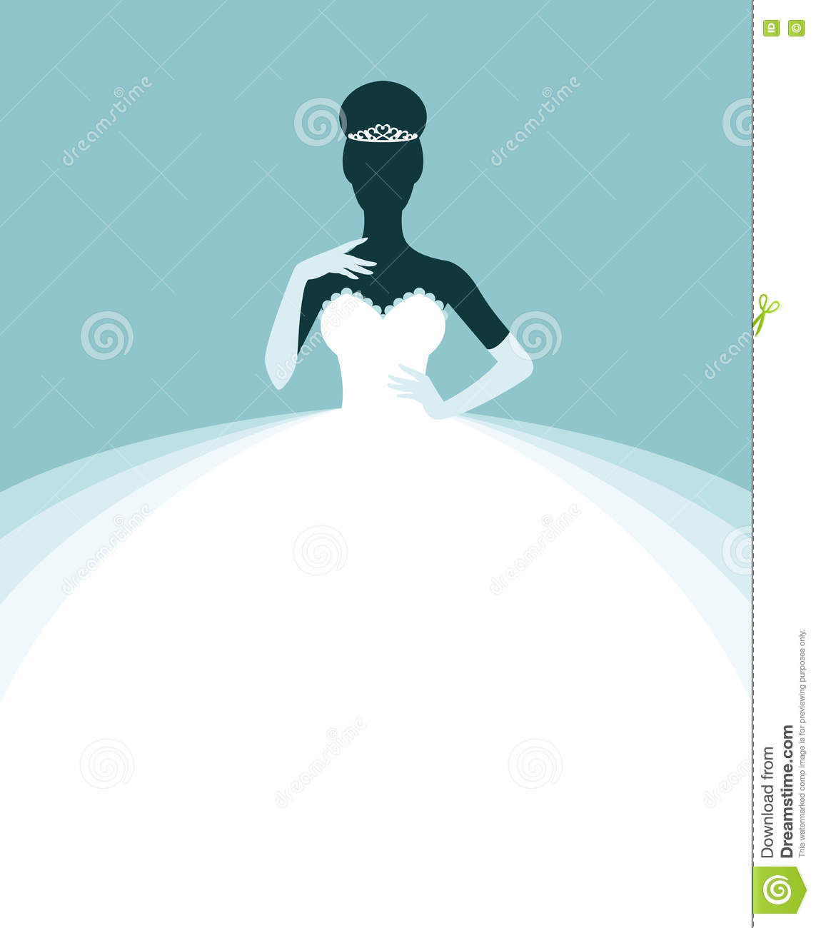 Beautiful Woman In A Wedding Dress Invitation Or Flyer Template