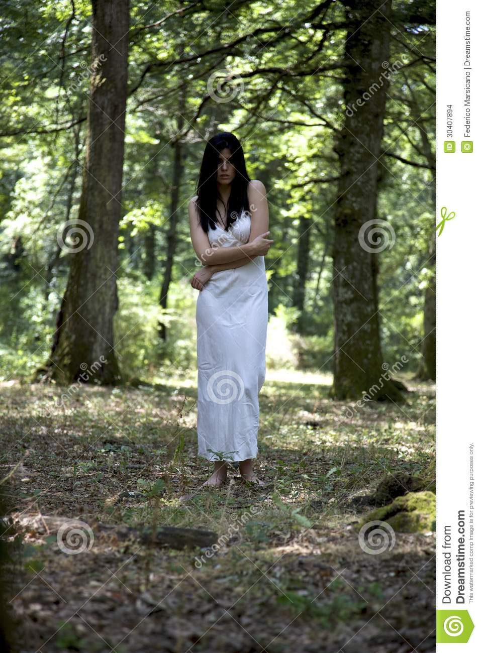 Beautiful Woman In The Woods Stock Images - Image 30407894-9340