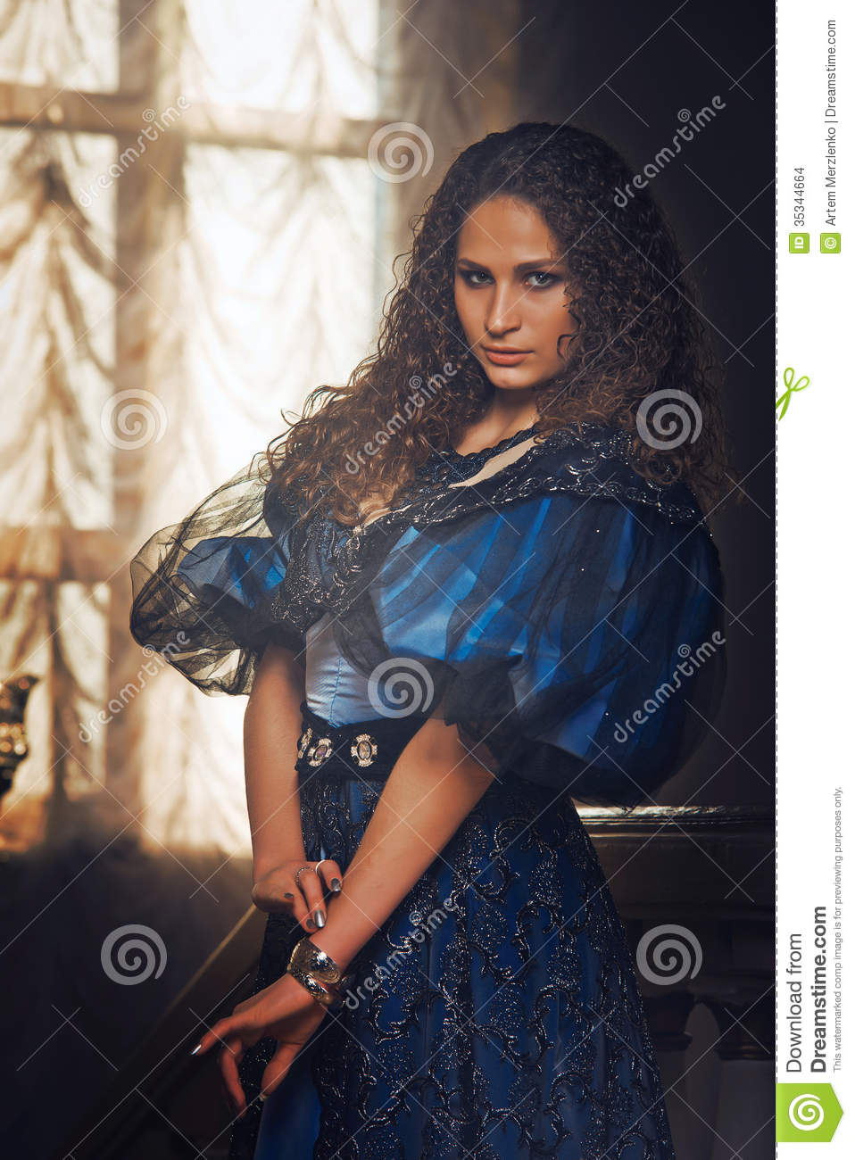 beautiful women in the clothing of the th century stock images beautiful women in the clothing of the 18th century