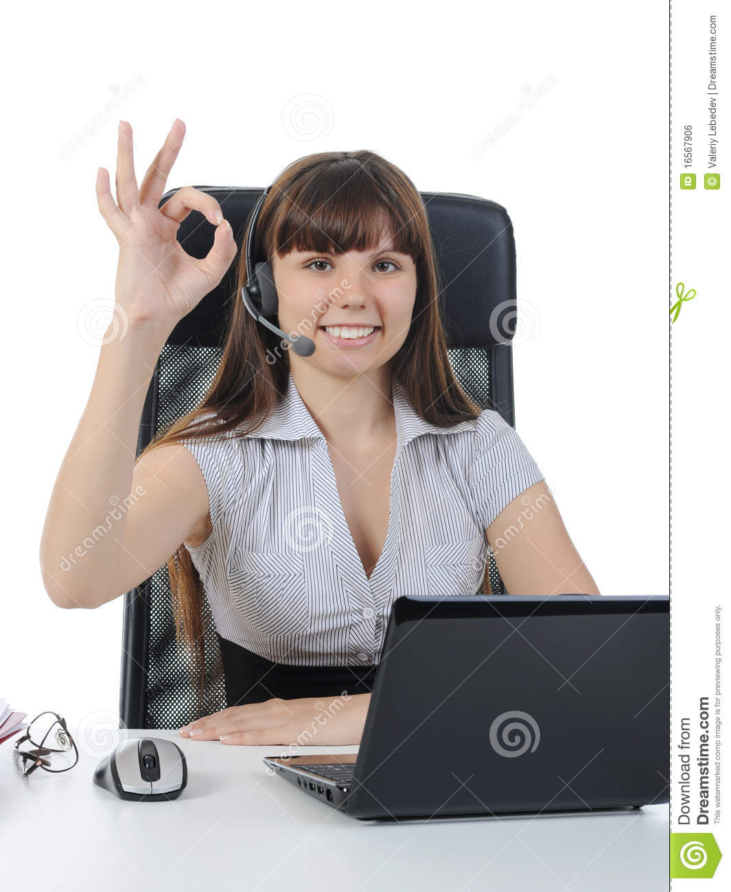 Beautiful Women In The Office Royalty Free Stock Image