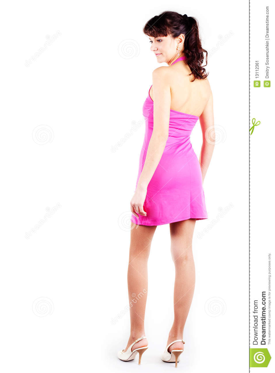 Cool Beautiful Young Woman Wearing A Short Dress Stock Image - Image 25391869