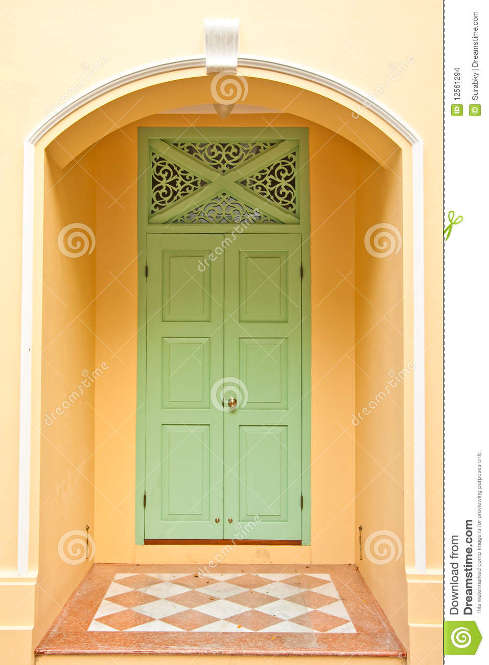 Beautiful wood door stock images image 12561294 for Beautiful wooden doors picture collection