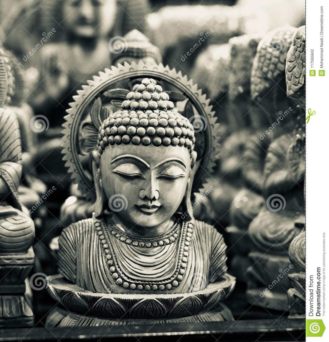 Download Hindu Religious God Isolated Wooden Object Unique Photo Stock Photo - Image of belief, sharp: 117595842